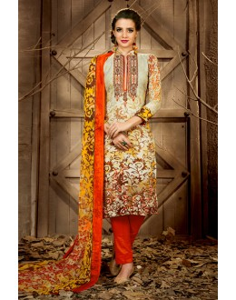 Wedding Wear Multi-Colour Rayon-Modal Salwar Suit - 71446