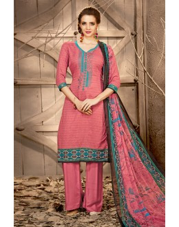 Traditional Wear Peach Rayon-Modal Salwar Suit - 71450