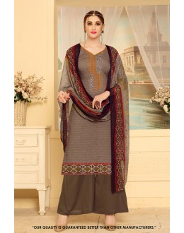 Ethnic Wear Brown Rayon-Modal Salwar Suit - 71453