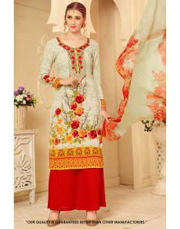 Casual Wear Multi-Colour Rayon-Modal Salwar Suit - 71454