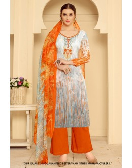 Wedding Wear Multi-Colour Rayon-Modal Salwar Suit - 71458