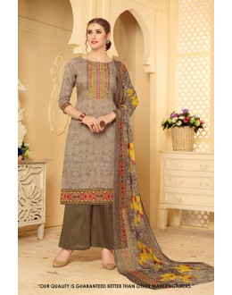 Casual Wear Brown Rayon-Modal Salwar Suit - 71459