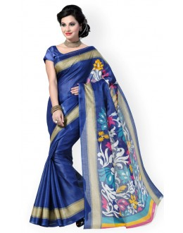 Party Wear Bhagalpuri Blue Saree - 80188