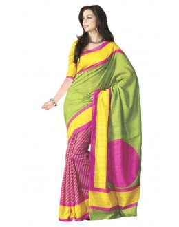 Party Wear Bhagalpuri Green Saree - 80169