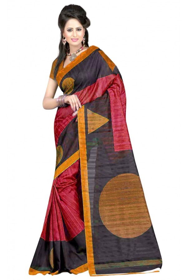 Party Wear Bhagalpuri Multicolor Saree - 80160