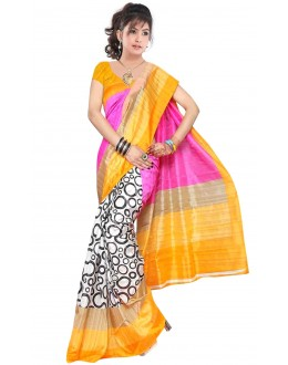 Party Wear Bhagalpuri Multicolor Saree - 80162