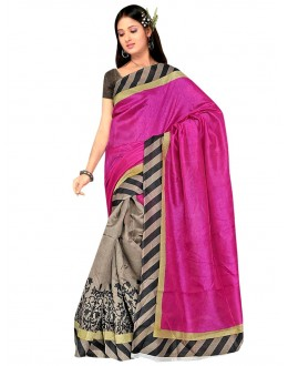 Party Wear Bhagalpuri Pink Saree - 80171