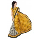 Party Wear Bhagalpuri Yellow Saree - 80157