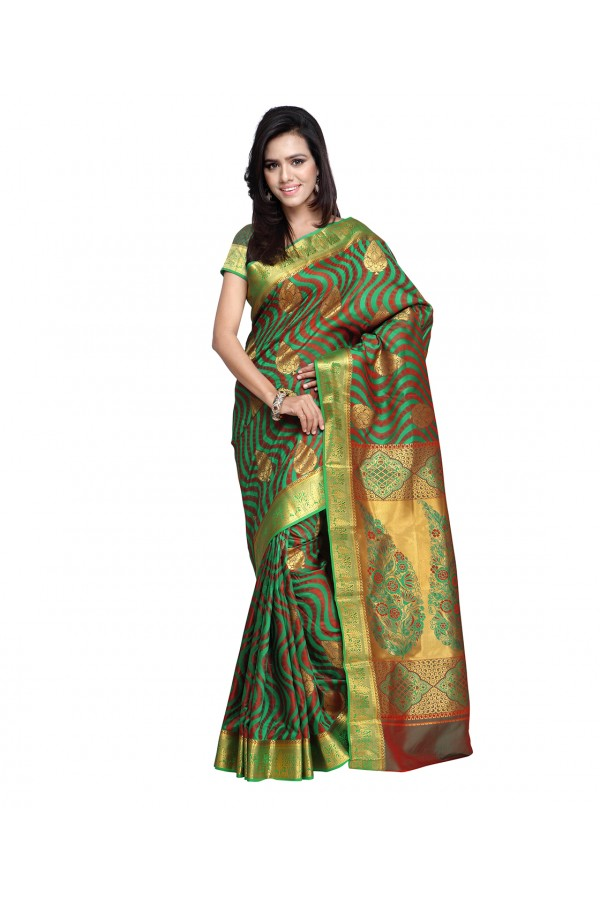 Traditional Green Art Silk Saree  - 80290