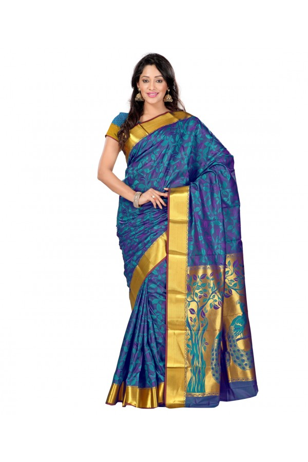 Traditional Blue Art Silk Saree  - 80297