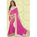 Bollywood Inspired : Festival Wear Pink Georgette Saree - 803036