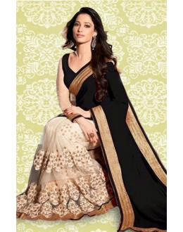 Bollywood Inspired : Tamanna Bhatia In Black Saree - 803037A