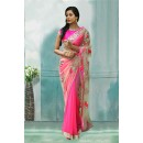 Bollywood Inspired - Festival Wear Pink Saree  - 80727