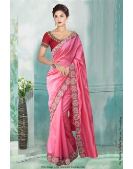 Bollywood Inspired - Festival Wear Pink Saree  - 80768