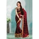 Bollywood Inspired - Festival Wear Maroon Saree  - 80818