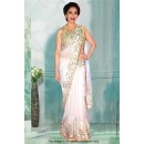 Bollywood Inspired - Madhuri Dixit In White Saree  - 81278