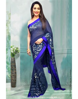 Bollywood Inspired - Madhuri Dixit In Blue Saree  - 81281