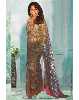 Bollywood Inspired - Madhuri Dixit In Grey Saree  - 81290
