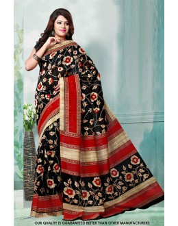 Ethnic Wear Black Bhagalpuri Saree  - 81469
