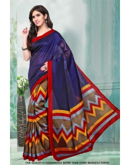 Bhagalpuri Multi-Colour Printed Saree  - 81482