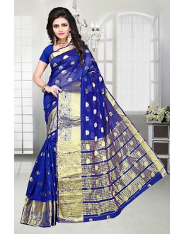 Festival Wear Blue Banarasi Silk Saree  - 81516A