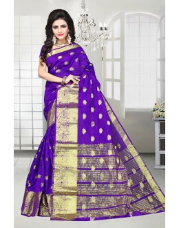 Party Wear Purple Banarasi Silk Saree  - 81516B