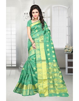 Banarasi Silk Green Ethnic Saree  - 81517A