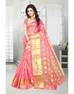 Pink Colour Banarasi Silk Saree  - 81517C