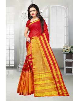 Dora Kota Red & Yellow Saree  - 81519C