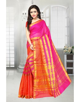 Party Wear Pink Dora Kota Saree  - 81519D
