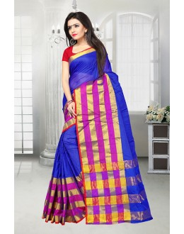 Festival Wear Blue Dora Kota Saree  - 81522A