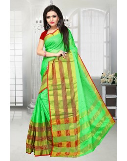 Festival Wear Green Dora Kota Saree  - 81522E