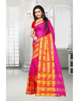 Party Wear Pink Dora Kota Saree  - 81522F