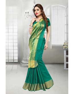 Banarasi Silk Green Saree  - 81523E