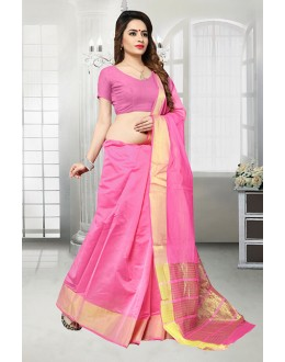 Pink Colour Banarasi Silk Saree  - 81523I