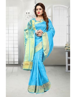 Banarasi Silk Sky Blue Saree  - 81524C