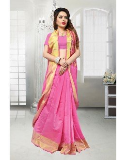 Banarasi Silk Ethnic Wear Pink Saree  - 81524G