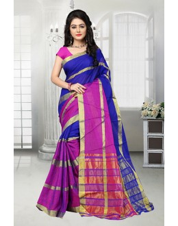 Festival Wear Blue Dora Kota Saree  - 81527B