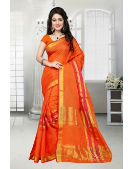 Orange Colour Dora Kota Ethnic Saree  - 81530B