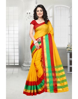 Festival Wear Yellow Dora Kota Saree  - 81531A