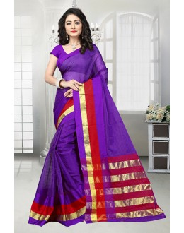Party Wear Purple Dora Kota Saree  - 81531D