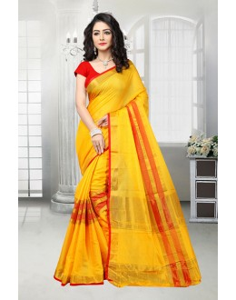 Ethnic Wear Yellow Dora Kota Saree  - 81532B