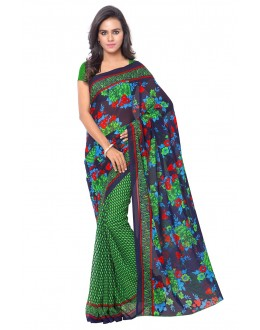 Festival Wear Multi Colour Ranyal Printed Saree  - 81776