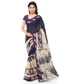 Casual Wear Multi Colour Ranyal Printed Saree  - 81778