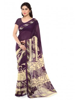 Ethnic Wear Multi Colour Ranyal Printed Saree  - 81779
