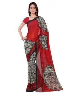 Ethnic Wear Multi Colour Ranyal Printed Saree  - 81787