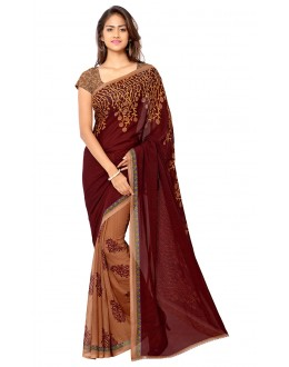 Festival Wear Multi Colour Ranyal Printed Saree  - 81801