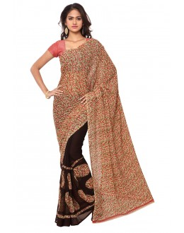 Party  Wear Multi Colour Ranyal Printed Saree  - 81806