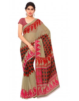 Ethnic Wear Multi Colour Ranyal Printed Saree  - 81811
