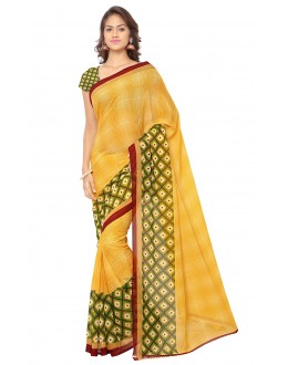 Casual Wear Yellow Ranyal Printed Saree  - 81815